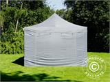 Pop up gazebo FleXtents PRO 4x6 m Grey, incl. 8 sidewalls - 12
