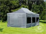 Pop up gazebo FleXtents PRO 4x6 m Grey, incl. 8 sidewalls - 20