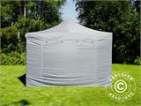 Pop up gazebo FleXtents PRO 4x6 m Grey, incl. 8 sidewalls - 22
