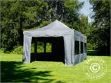 Pop up gazebo FleXtents PRO 4x6 m Grey, incl. 8 sidewalls - 23