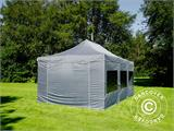 Pop up gazebo FleXtents PRO 4x6 m Grey, incl. 8 sidewalls - 24