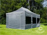 Pop up gazebo FleXtents PRO 4x6 m Grey, incl. 8 sidewalls - 25