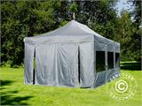 Pop up gazebo FleXtents PRO 4x6 m Grey, incl. 8 sidewalls - 27