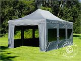 Pop up gazebo FleXtents PRO 4x6 m Grey, incl. 8 sidewalls - 28