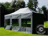 Pop up gazebo FleXtents PRO 4x6 m Grey, incl. 8 sidewalls - 29