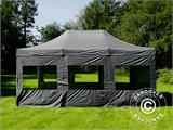 Pop up gazebo FleXtents PRO 4x6 m Grey, incl. 8 sidewalls - 34
