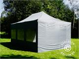 Pop up gazebo FleXtents PRO 4x6 m Grey, incl. 8 sidewalls - 35