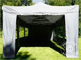 Pop up gazebo FleXtents PRO 4x6 m Grey, incl. 8 sidewalls - 36