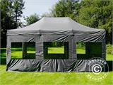 Pop up gazebo FleXtents PRO 4x6 m Grey, incl. 8 sidewalls - 37