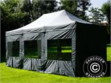 Pop up gazebo FleXtents PRO 4x6 m Grey, incl. 8 sidewalls - 38