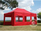 Vouwtent/Easy up tent FleXtents PRO 4x6m Rood, inkl. 8 Zijwanden - 1