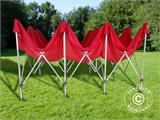 Vouwtent/Easy up tent FleXtents PRO 4x6m Rood, inkl. 8 Zijwanden - 7