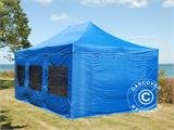 Tenda Dobrável FleXtents PRO 4x6m Azul, incl. 8 paredes laterais - 1