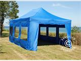 Tenda Dobrável FleXtents PRO 4x6m Azul, incl. 8 paredes laterais - 2