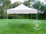 "Vouwtent/Easy up tent FleXtents PRO ""Peaked"" 4x4m Latte - 1"