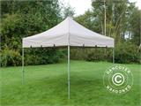 "Pop up gazebo FleXtents PRO ""Peaked"" 4x4 m Latte, incl. 4 decorative curtains - 2"