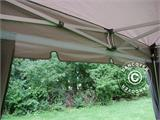 "Pop up gazebo FleXtents PRO ""Peaked"" 4x4 m Latte, incl. 4 decorative curtains - 6"