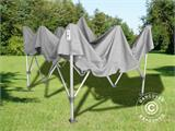 "Pop up gazebo FleXtents PRO ""Peaked"" 4x4 m Latte, incl. 4 decorative curtains - 10"