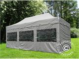 "Quick-up telt FleXtents PRO ""Peaked"" 4x6m Latte, inkl. 8 sider - 1"