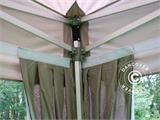 "Tenda Dobrável FleXtents PRO ""Peaked"" 4x6m Latte, incl. 8 cortinas decorativas - 3"