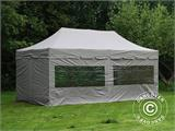 "Pop up gazebo FleXtents PRO ""Peaked"" 4x8 m Latte, incl. 6 sidewalls - 1"