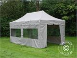"Pop up gazebo FleXtents PRO ""Peaked"" 4x8 m Latte, incl. 6 sidewalls - 2"