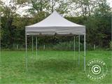 "Pop up gazebo FleXtents PRO ""Peaked"" 4x8 m Latte, incl. 6 sidewalls - 6"