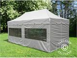 "Pop up gazebo FleXtents PRO ""Peaked"" 4x8 m Latte, incl. 6 sidewalls - 7"