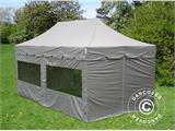 "Pop up gazebo FleXtents PRO ""Peaked"" 4x8 m Latte, incl. 6 sidewalls - 8"