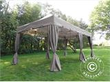 "Carpa plegable FleXtents PRO ""Peaked"" 4x8m Latte, incl. 6 cortinas decorativas - 2"