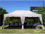 "Carpa plegable FleXtents PRO ""Peaked"" 4x8m Latte, incl. 6 cortinas decorativas - 3"
