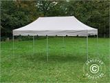 "Gazebo pieghevole FleXtents PRO ""Peaked"" 4x8m Latte, incl. 6 tendaggi decorativi - 5"