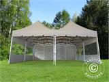 Pop up gazebo FleXtents PRO Peak Pagoda 6x6 m, Latte, Incl. 8 sidewalls - 9