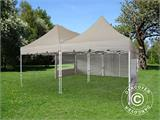 Pop up gazebo FleXtents PRO Peak Pagoda 6x6 m, Latte, Incl. 8 sidewalls - 17