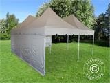 Pop up gazebo FleXtents PRO Peak Pagoda 6x6 m, Latte, Incl. 8 sidewalls - 18