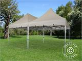Pop up gazebo FleXtents PRO Peak Pagoda 6x6 m, Latte, Incl. 8 sidewalls - 21