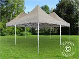 Pop up gazebo FleXtents PRO Peak Pagoda 6x6 m, Latte, Incl. 8 sidewalls - 23