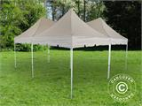 Pop up gazebo FleXtents PRO Peak Pagoda 6x6 m, Latte, Incl. 8 sidewalls - 24