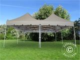 Pop up gazebo FleXtents PRO Peak Pagoda 6x6 m, Latte, Incl. 8 sidewalls - 25
