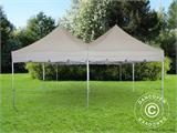 Pop up gazebo FleXtents PRO Peak Pagoda 6x6 m, Latte, Incl. 8 sidewalls - 26