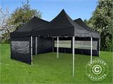 Pop up gazebo FleXtents PRO Peak Pagoda 6x6 m, Black, Incl. 8 sidewalls - 4