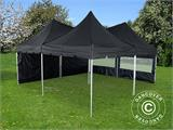 Pop up gazebo FleXtents PRO Peak Pagoda 6x6 m, Black, Incl. 8 sidewalls - 5