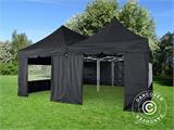 Pop up gazebo FleXtents PRO Peak Pagoda 6x6 m, Black, Incl. 8 sidewalls - 7