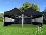 Pop up gazebo FleXtents PRO Peak Pagoda 6x6 m, Black, Incl. 8 sidewalls - 10