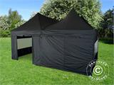 Pop up gazebo FleXtents PRO Peak Pagoda 6x6 m, Black, Incl. 8 sidewalls - 18