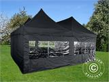 Pop up gazebo FleXtents PRO Peak Pagoda 6x6 m, Black, Incl. 8 sidewalls - 19
