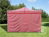 Pop up gazebo FleXtents Xtreme 50 4x4 m Striped incl. 4 sidewalls - 1