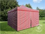 Pop up gazebo FleXtents Xtreme 50 4x4 m Striped incl. 4 sidewalls - 2