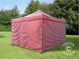 Pop up gazebo FleXtents Xtreme 50 4x4 m Striped incl. 4 sidewalls - 3