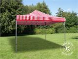 Pop up gazebo FleXtents Xtreme 50 4x4 m Striped incl. 4 sidewalls - 4